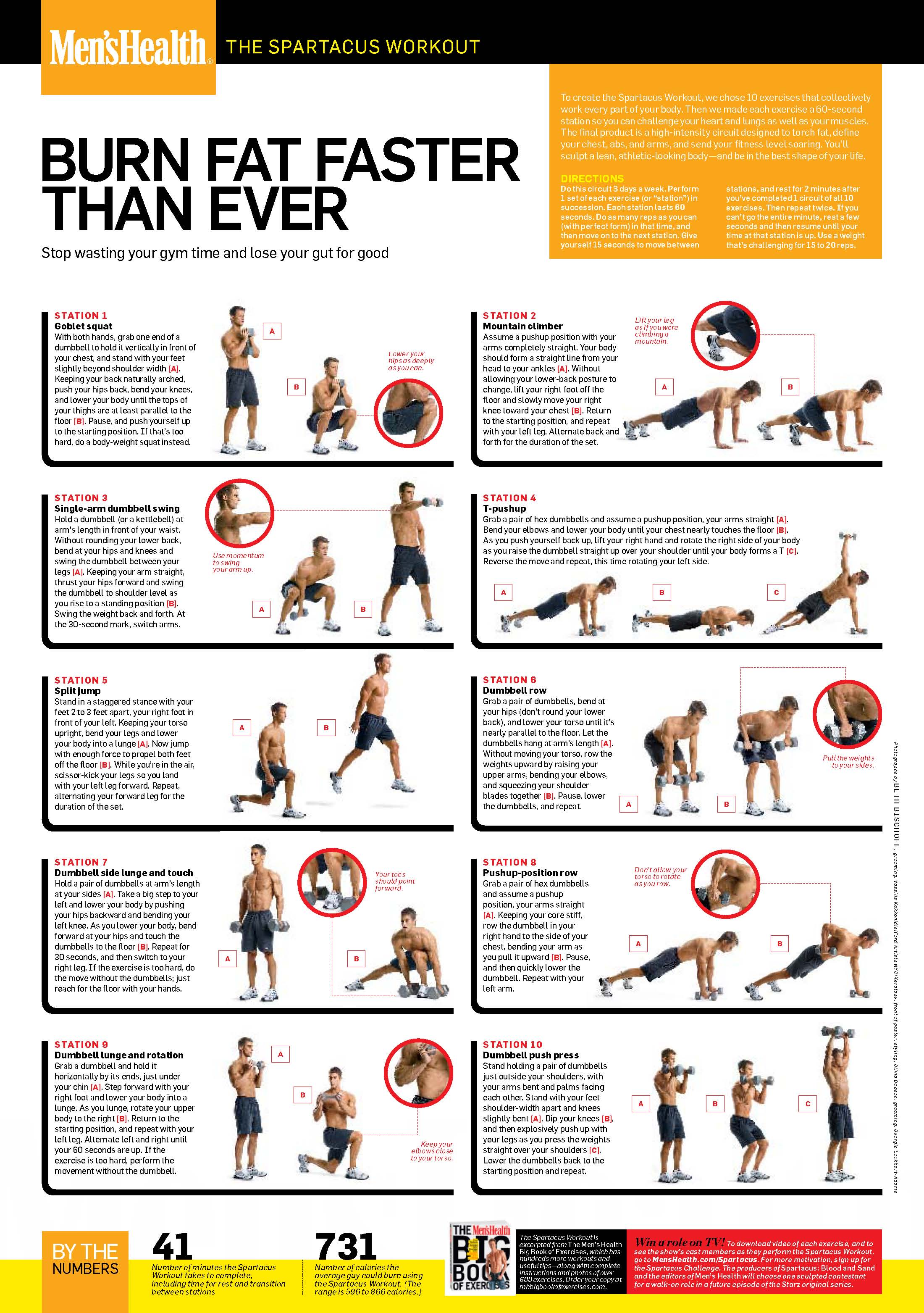The Spartacus Workout  Spartacus Workout Health Magazine And