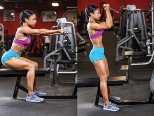 Squat with High-Cable Curl